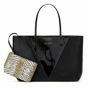 Victoria Secret🆕🆚Black Shimmer & Clear Tote NWT